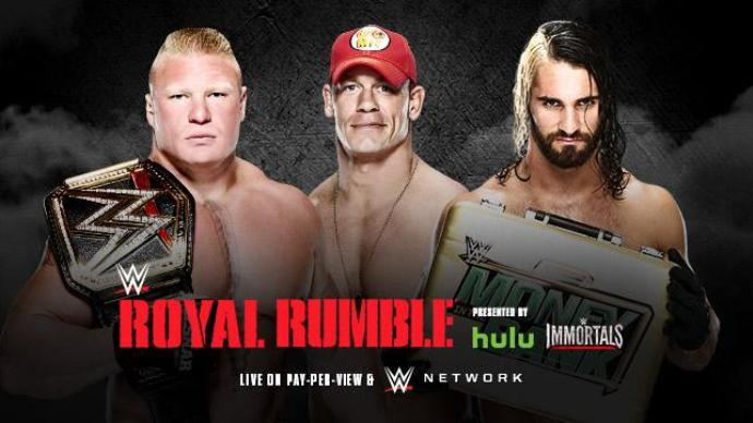 Royal Rumble 2015 Cena Lesnar Rollins