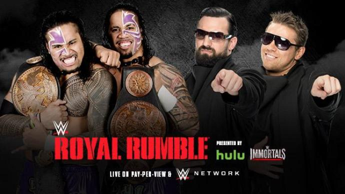 Royal Rumble 2015 Usos Miz Mizdow