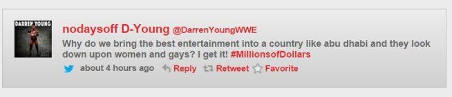 Darren Young obrisani tweet