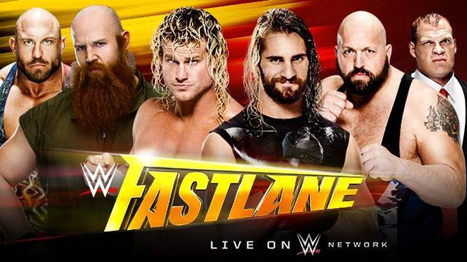 Fastlane 2015 Ziggler Rowan Ryback vs Rollins Big Show Kane