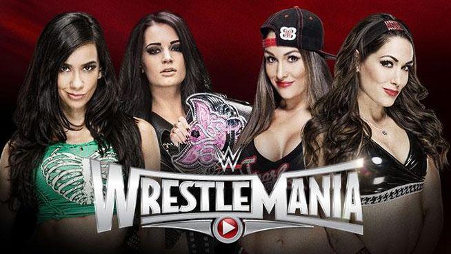 WrestleMania 31 AJ Paige Bellas