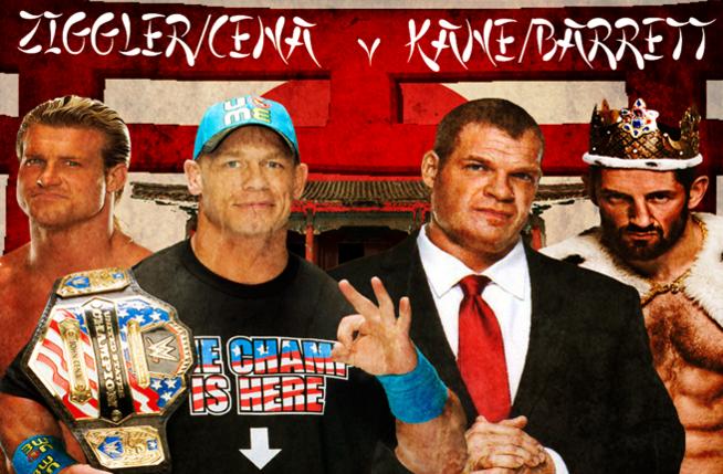 Cena & Ziggler v Kane & Barrett