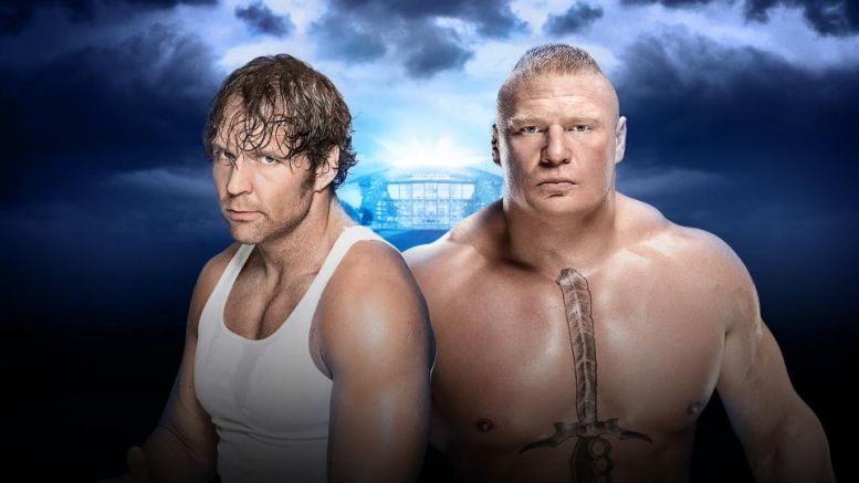 Dean Ambrose vs Brock Lesnar WM32